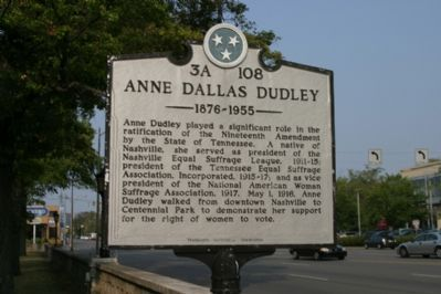 Anne Dallas Dudley Marker image. Click for full size.