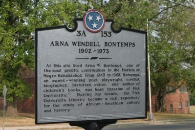 Arna Wendell Bontemps Marker image. Click for full size.