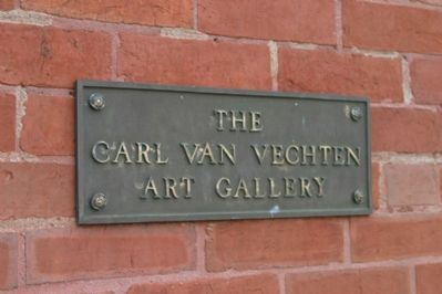 Name plate at the entrance to the Carl Van Vechten Art Gallery. image. Click for full size.