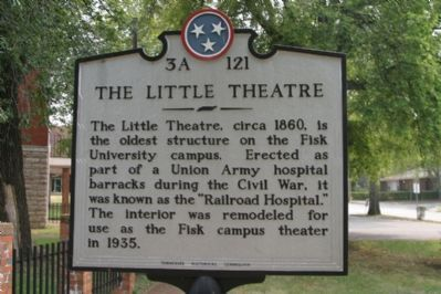 The Little Theatre Marker. image. Click for full size.