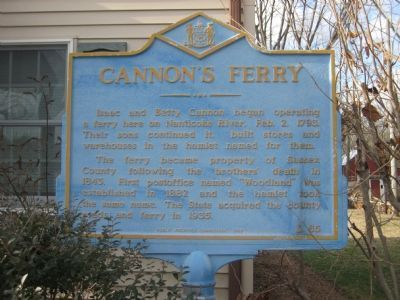 Cannon's Ferry Marker image. Click for full size.
