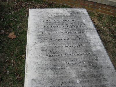 Isaac Cannon's Grave image. Click for full size.