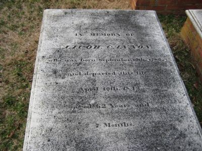 Jacob Cannon's Grave image. Click for full size.