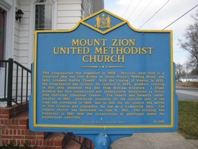 Mount Zion United Methodist Church Marker image. Click for full size.