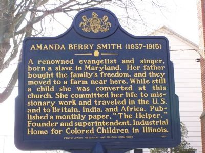 Amanda Berry Smith 1837-1915 Marker image. Click for full size.
