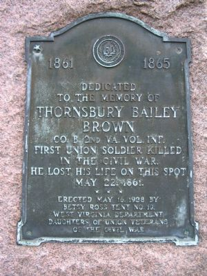 Dedicated to the Memory of Thornsbury Bailey Brown Marker image. Click for full size.