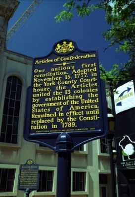 Articles of Confederation Marker image. Click for full size.