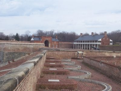 Interior of fort, seen from northwest ramparts. image. Click for full size.