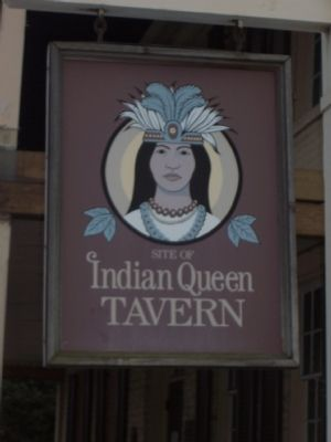 """Often referred to as the Indian Queen Tavern . . ."" image. Click for full size."