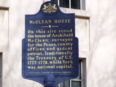 McClean House Marker image. Click for full size.