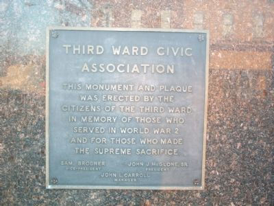 Third Ward Civic Association Marker image. Click for full size.