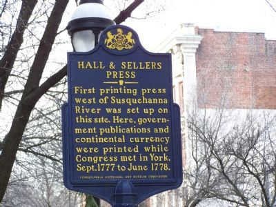 Hall & Sellers Press Marker image. Click for full size.
