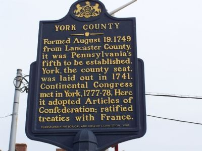 York County Marker image. Click for full size.