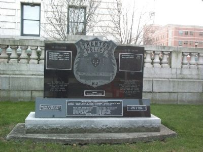 Trenton Police Marker image. Click for full size.