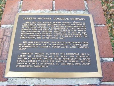 Captain Michael Doudel's Company Marker image. Click for full size.