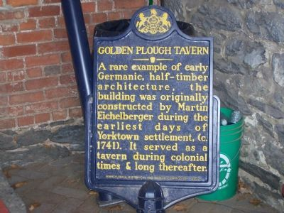 Golden Plough Tavern Marker image. Click for full size.