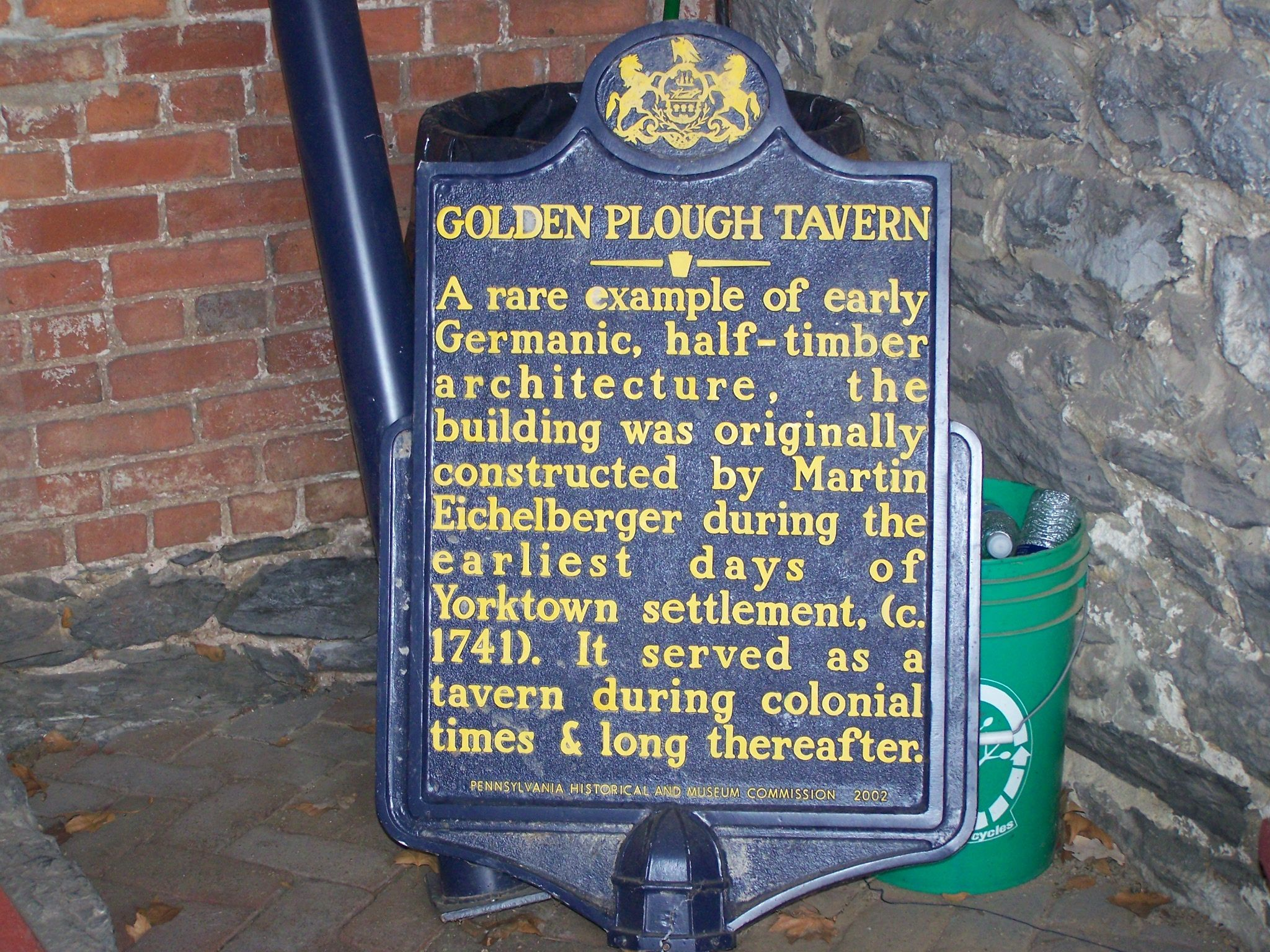 Golden Plough Tavern Marker