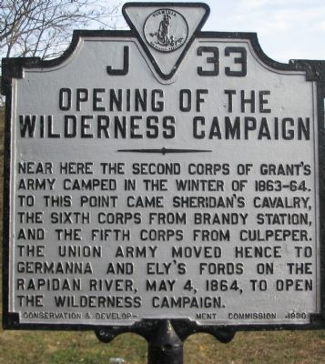 Opening of the Wilderness Campaign Marker image. Click for full size.