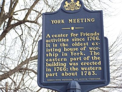 York Meeting Marker image. Click for full size.