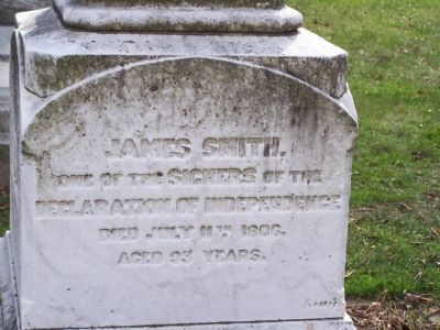 Grave marker of James Smith image. Click for full size.