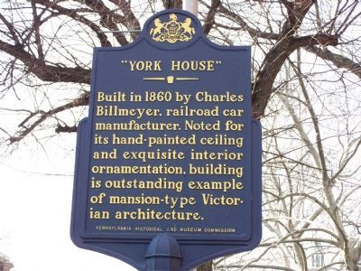 York House Marker image. Click for full size.