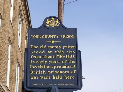 York County Prison Marker image. Click for full size.