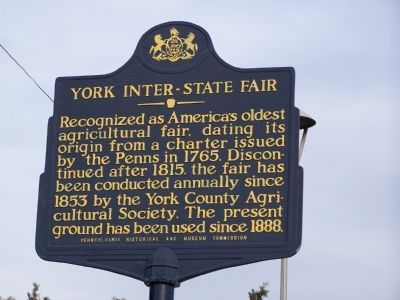York Inter-State Fair Marker image. Click for full size.