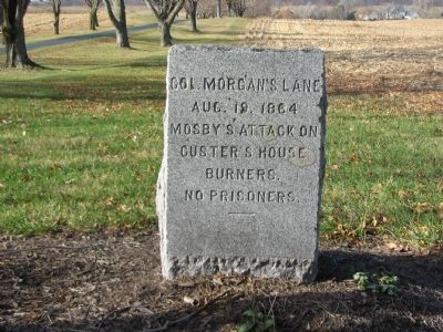 Col. Morgan's Lane Marker image. Click for full size.