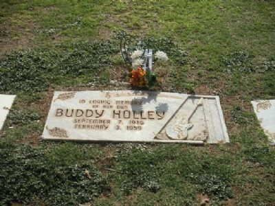Buddy Holley Grave Marker image. Click for full size.
