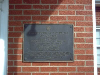 Another memorial at V.F.W. Post 3103 image. Click for full size.