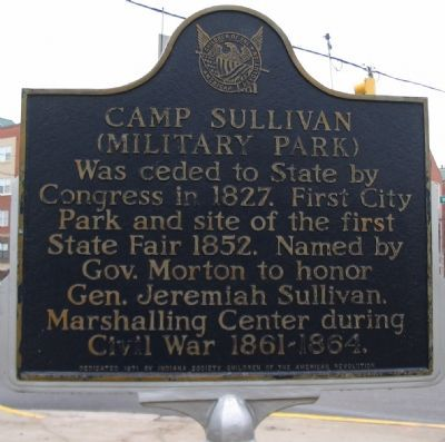 Camp Sullivan (Military Park) Marker image. Click for full size.