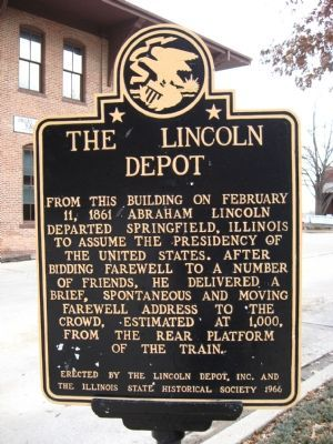 The Lincoln Depot Marker image. Click for full size.