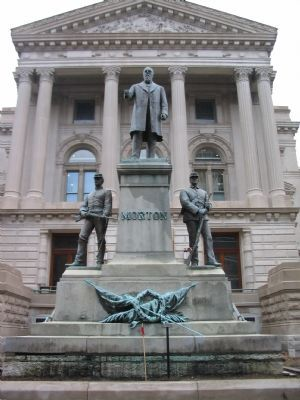 Oliver Morton Statue at the State House image. Click for full size.