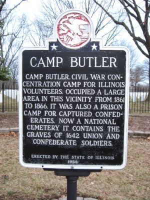 Camp Butler Marker image. Click for full size.