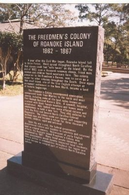 The Freedmen's Colony of Roanoke Island 1862-1867 Marker image. Click for full size.