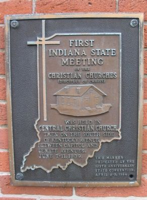 First Indiana State Meeting of the Christian Churches Marker image. Click for full size.