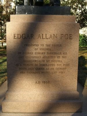 Edgar Allen Poe Marker image. Click for full size.