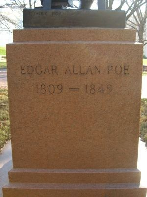 Back of the Edgar Allen Poe Marker image. Click for full size.