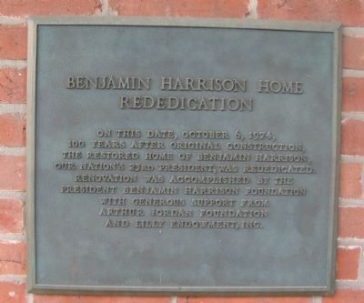 Benjamin Harrison Home Rededication image. Click for full size.
