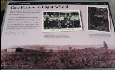 Cow Pasture to Flight School Marker image. Click for full size.