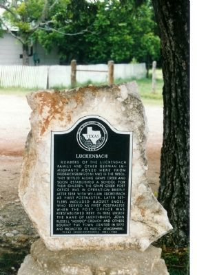Luckenbach Marker image. Click for full size.