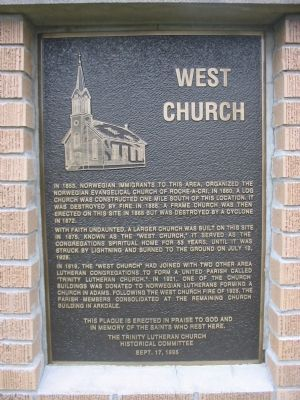 West Church Marker image. Click for full size.