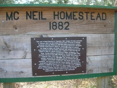 Mc Neil Homestead 1882 Marker image. Click for full size.
