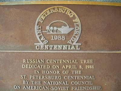 Russian Centennial Tree marker image. Click for full size.