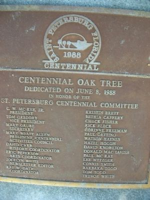 Centennial tree plaque #2 image. Click for full size.