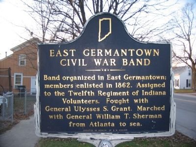 East Germantown Civil War Band Marker image. Click for full size.
