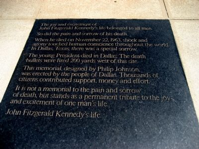 """John Fitzgerald Kennedy's life."" image. Click for full size."