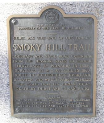 Smoky Hill Trail Marker image. Click for full size.