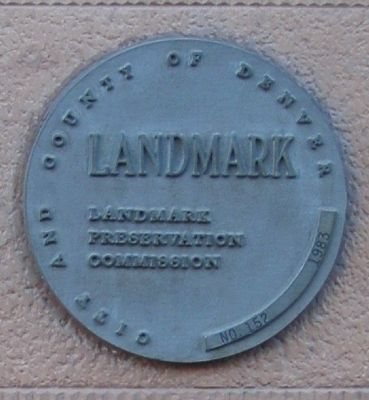 City and County Landmark Marker located above the Oxford Hotel and Annex Marker image. Click for full size.