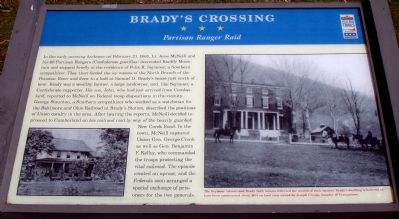 Brady's Crossing Marker image. Click for full size.